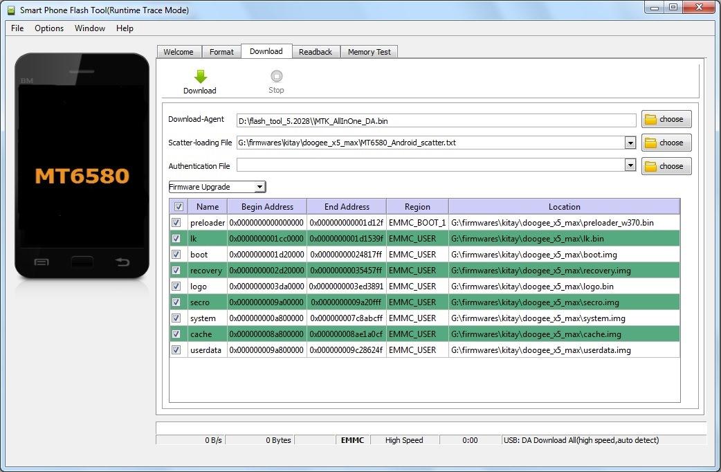 Программа для прошивки смартфонов SP Flash Tool